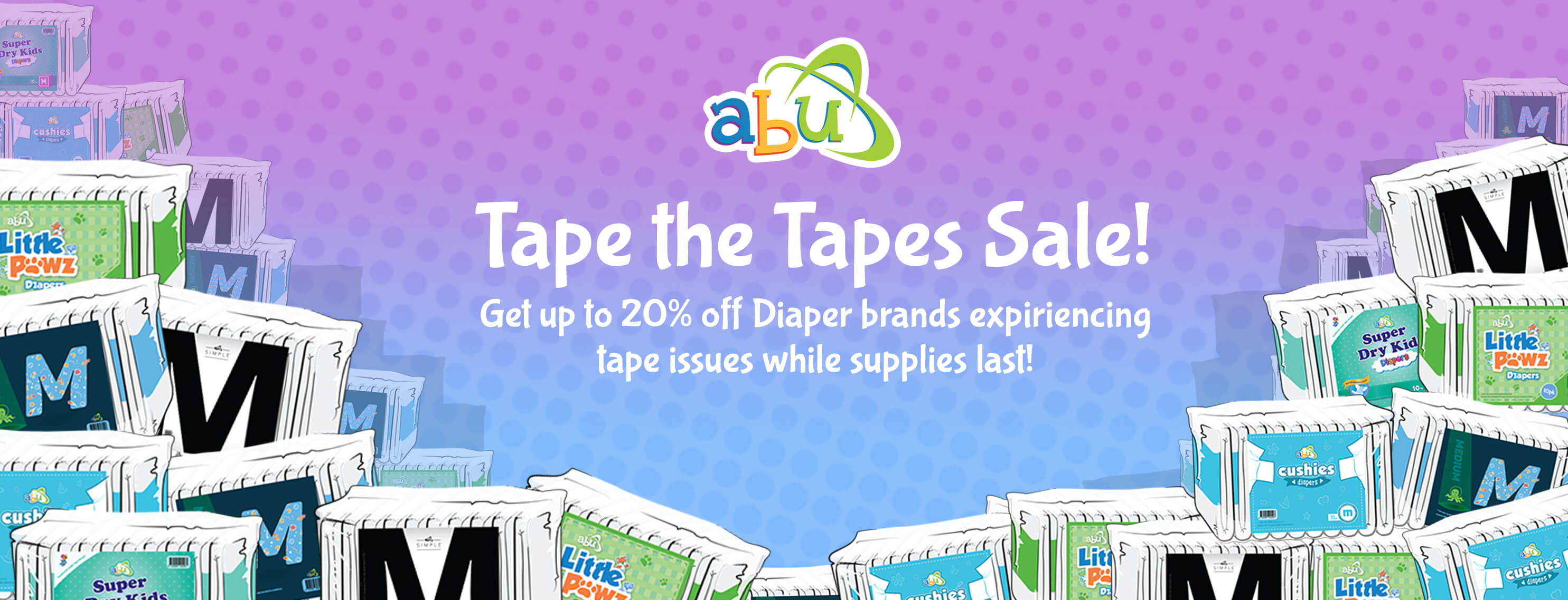 Tape the Tapes Sale Banner