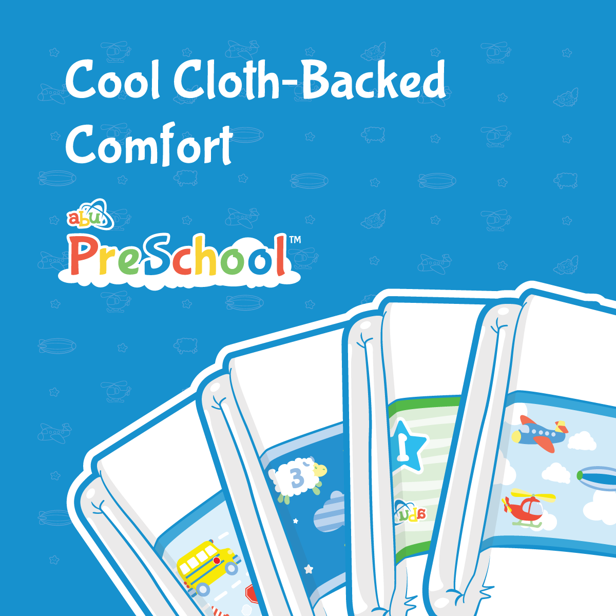 ABU PreSchool Cloth-Backed Diapers