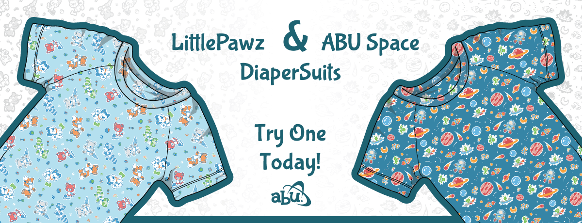 ABU Space and LittlePawz Diapersuits Now Available