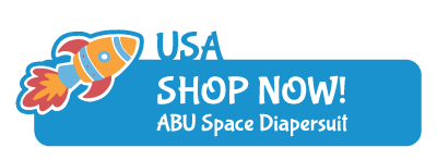ABUniverse USA ABU Space Patterned Diapersuit