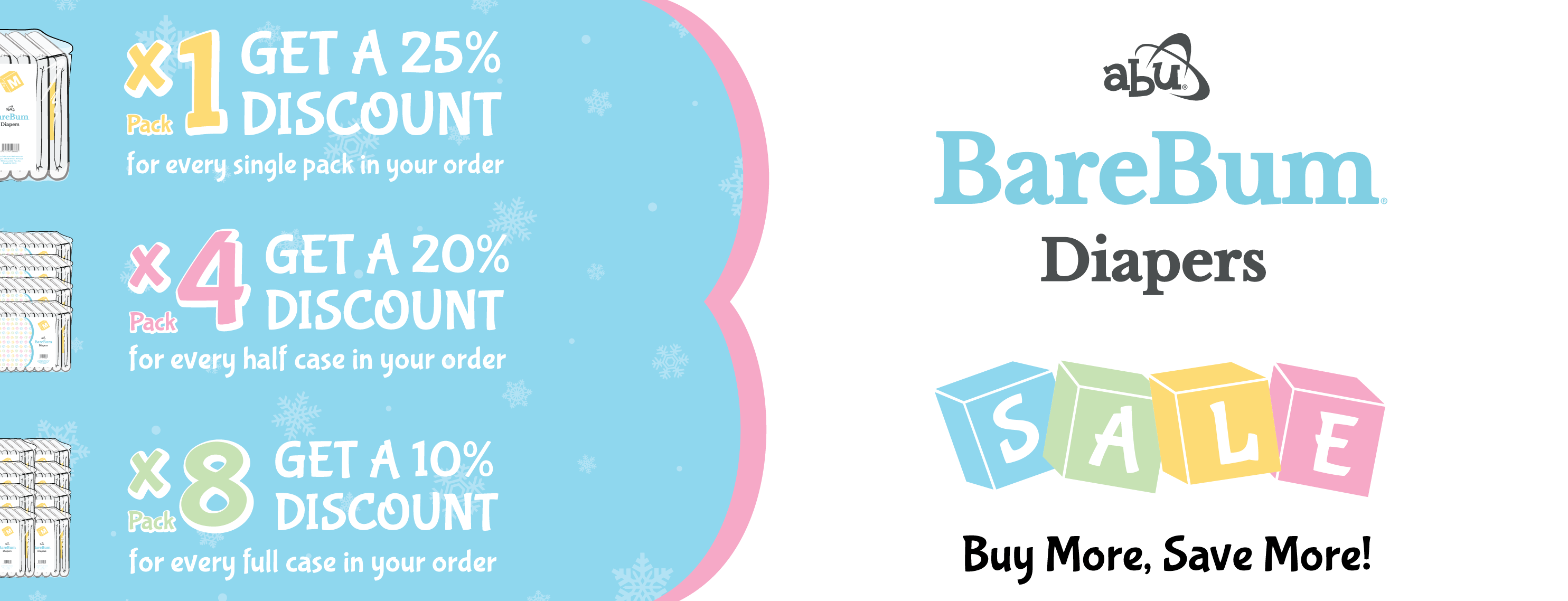 ABU BareBum Diaper Sale