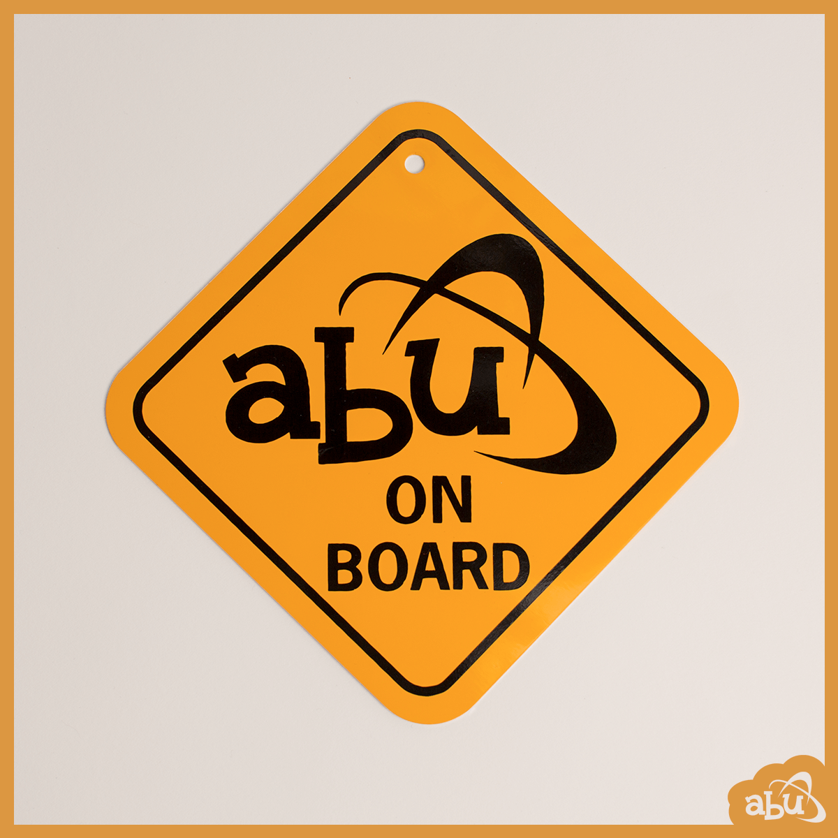 ABU On Board Hanging Metal Sign