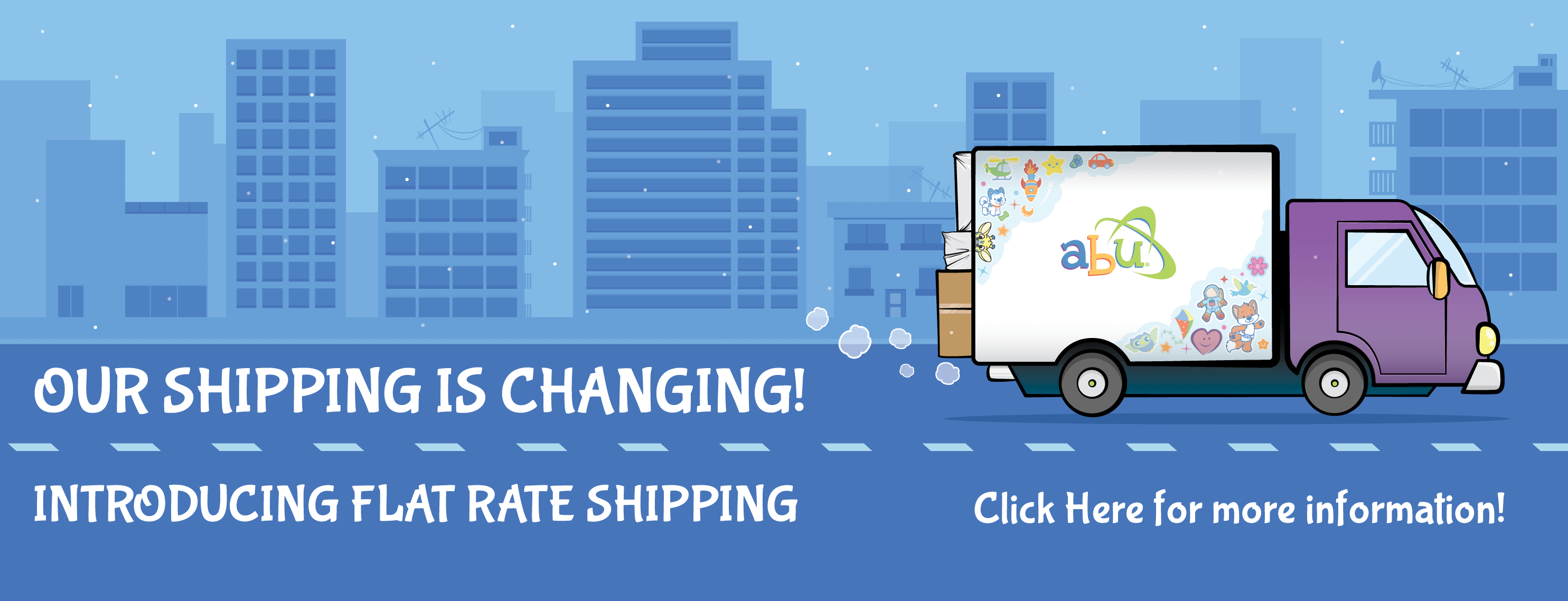 Flat Shipping Rate Banner